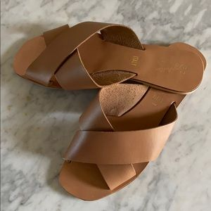 Real Italian leather slides !